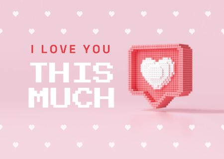 Cute Love Phrase with Heart Sticker Card Modelo de Design