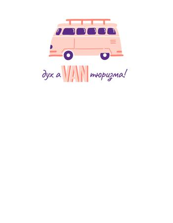 Travel Inspiration with Cute Pink Van T-Shirt – шаблон для дизайна