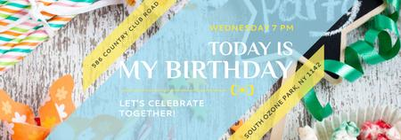 Birthday Party Invitation Bows and Ribbons Tumblr – шаблон для дизайна