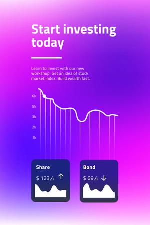 Modèle de visuel Chart with Investment statistics - Pinterest