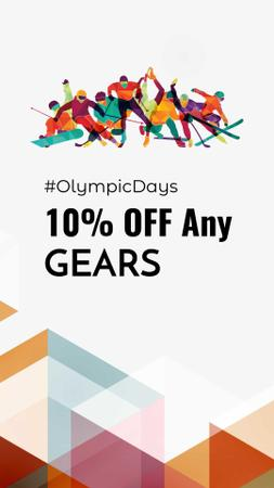 Olympic Days Special Discount Offer Instagram Story Design Template
