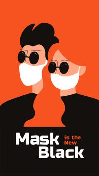 Couple in medical masks during Quarantine