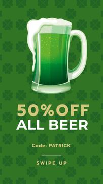 Saint Patrick's Day mug with beer