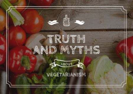 Ontwerpsjabloon van Card van Truth and myths about Vegetarianism