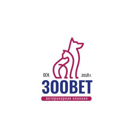 Pets Cat and Dog Icon Logo – шаблон для дизайна