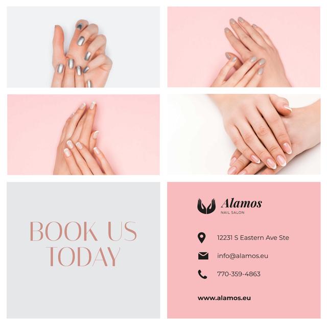 Template di design Manicure Salon Ad Female Hands with Shiny Nails Instagram