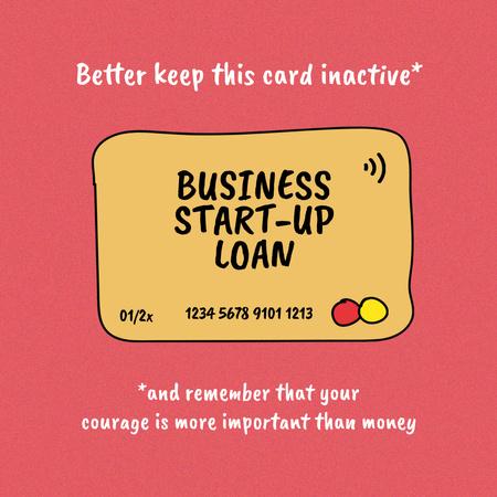 Start-up Loan concept with Credit Card Instagram – шаблон для дизайну