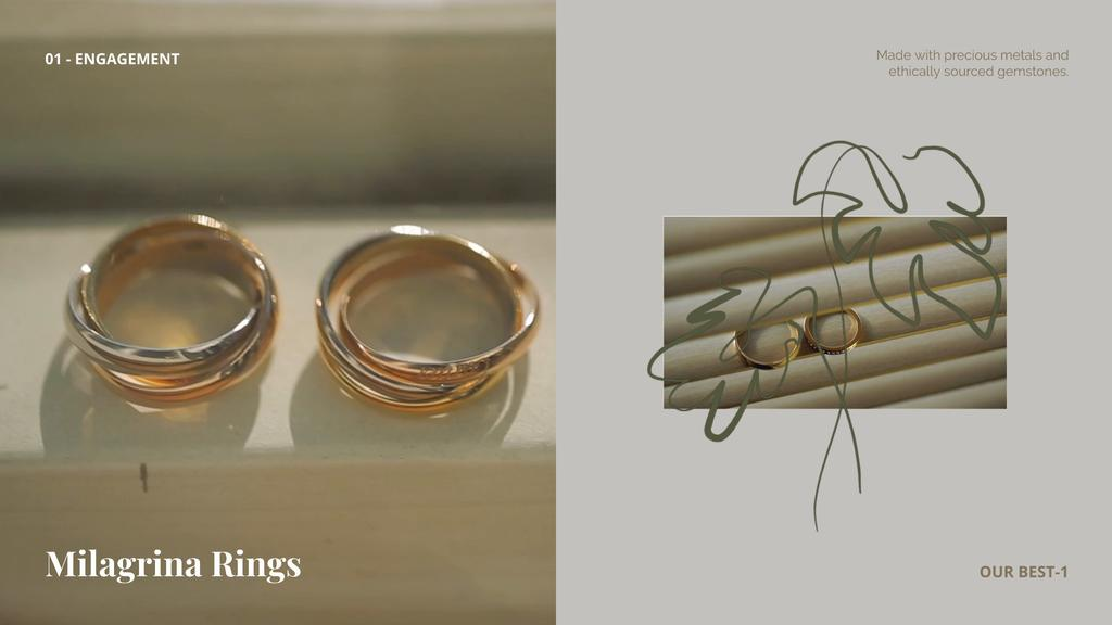 Jewerly Ad with Gold Rings — Modelo de projeto