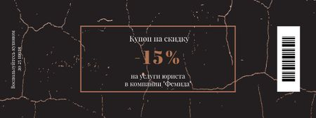 Discount Offer on Lawyer Services Coupon – шаблон для дизайна