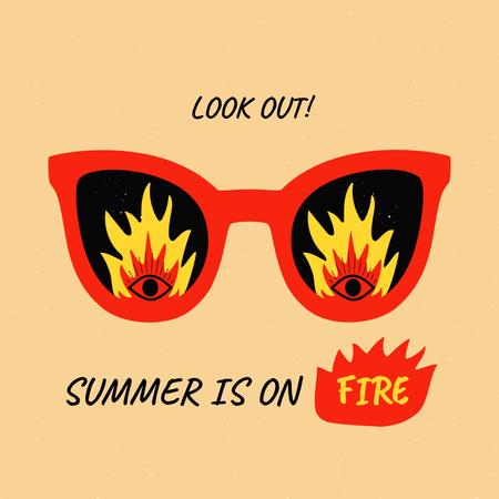 Modèle de visuel Summer Mood with Funny Sunglasses - Album Cover