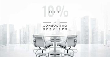 Consulting Services Offer with White Office Space