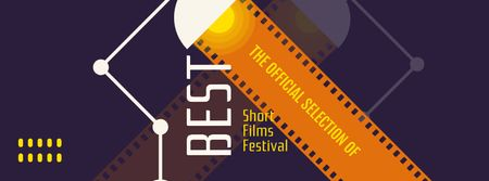 Template di design Short Films Festival Announcement Facebook cover