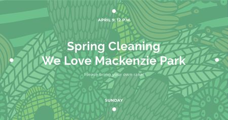 Spring cleaning in Mackenzie park Facebook AD Modelo de Design