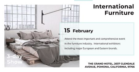 International furniture show Annoucement Facebook AD Design Template
