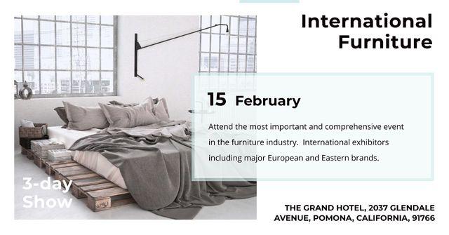 International furniture show Annoucement Facebook AD Modelo de Design