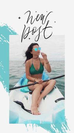 Young Woman on jetski in Sea TikTok Video – шаблон для дизайна