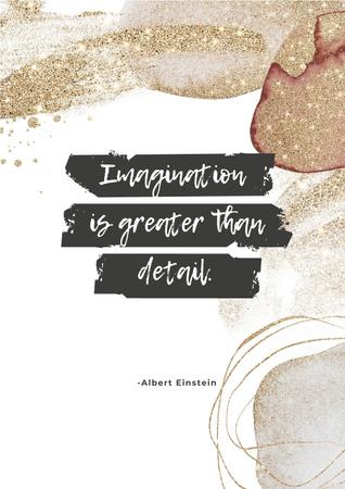 Designvorlage Imagination Quote on Glitter für Poster