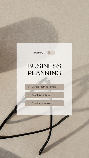 Business Planning steps concept Instagram Story Modelo de Design