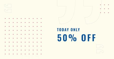 Plantilla de diseño de Sale Discount Offer with Polka Dot pattern Facebook AD