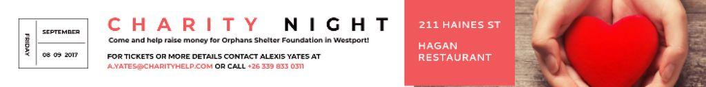 Plantilla de diseño de Corporate Charity Night Leaderboard