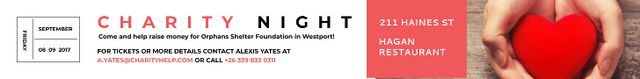Corporate Charity Night Leaderboard – шаблон для дизайна