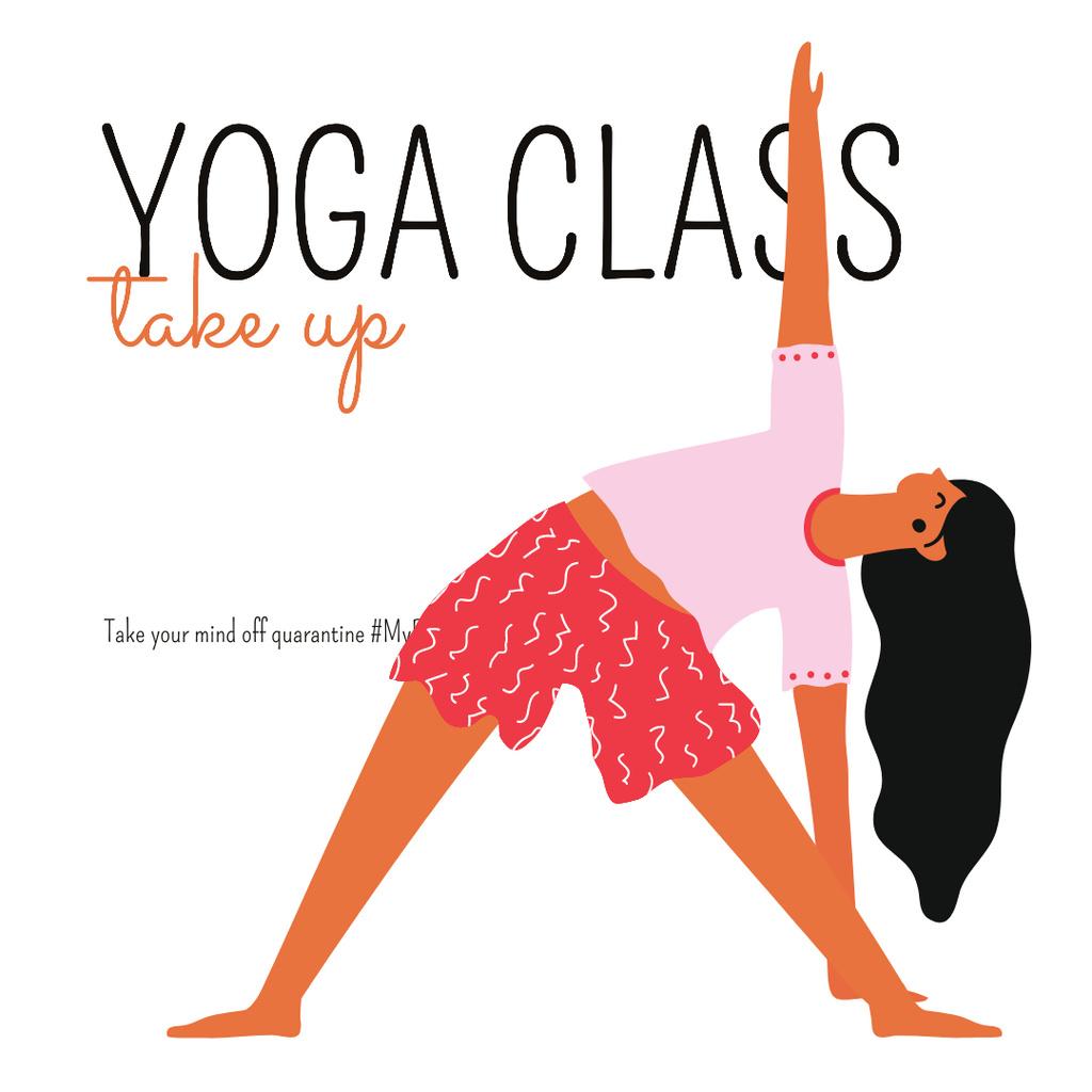 #MyPandemicSurvivalClass Yoga Class Ad during Quarantine — Crea un design