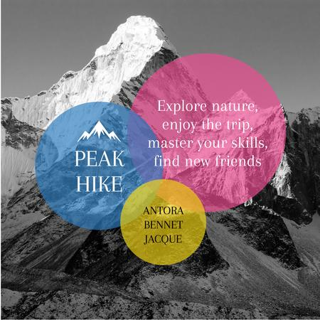 Peak hike trip Announcement Instagram Design Template