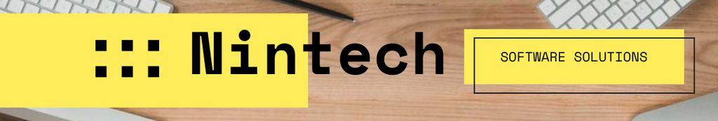 Software Company profile on office table — Modelo de projeto
