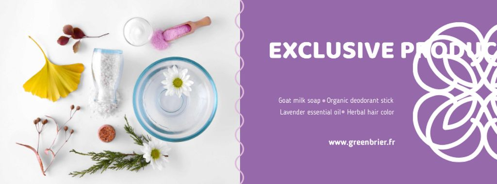Beauty Shop Offer with Natural Skincare Products — Modelo de projeto