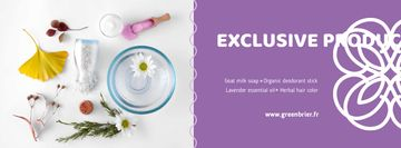 Beauty Shop Offer with Natural Skincare Products