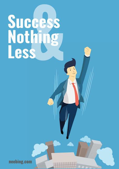 Citation about business success Poster Design Template