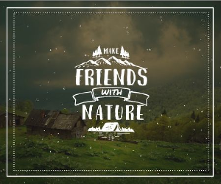 Make friends with nature poster Medium Rectangle Design Template