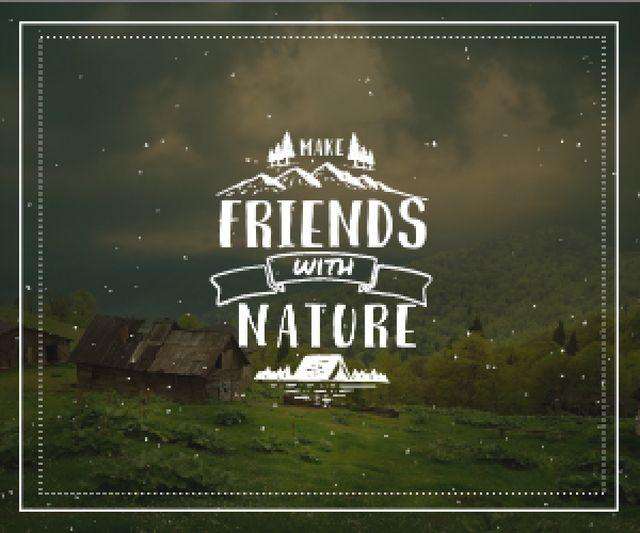 Szablon projektu Make friends with nature poster Medium Rectangle