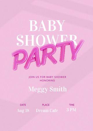 Baby Shower Party Announcement Invitation – шаблон для дизайна