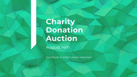 Plantilla de diseño de Charity Event Announcement on Green Abstract Pattern FB event cover