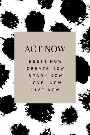 Inspirational Words on black spots Pinterest Modelo de Design