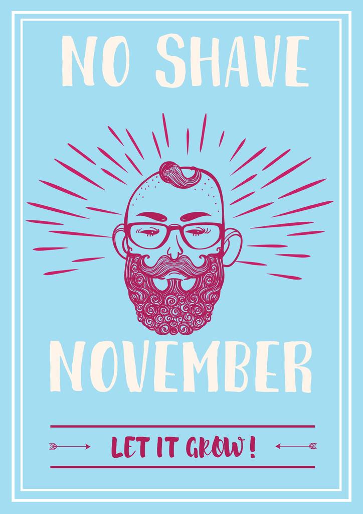 No shave November illustration — Створити дизайн