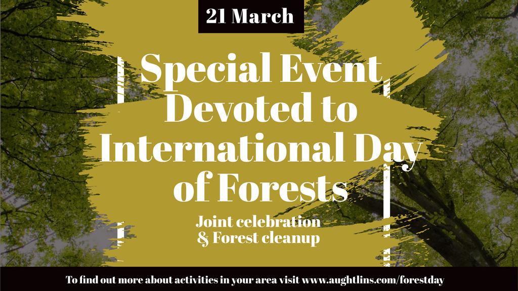 International Day of Forests Event with Tall Trees — ein Design erstellen