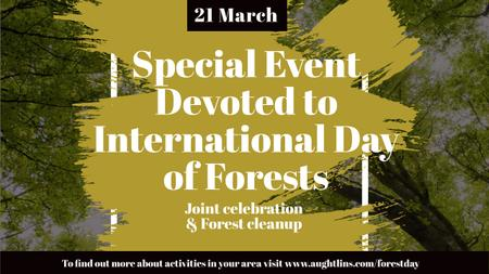 Plantilla de diseño de International Day of Forests Event with Tall Trees Youtube