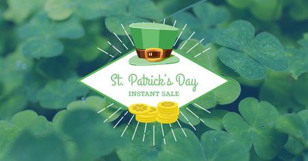 Template di design St. Patricks Day Sale Offer Facebook AD