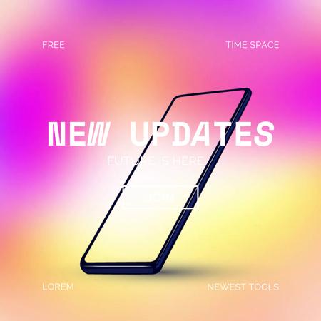 New Updates Ad with Modern Phone Animated Post – шаблон для дизайна
