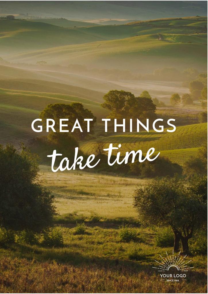 Quote with Majestic landscape — Maak een ontwerp