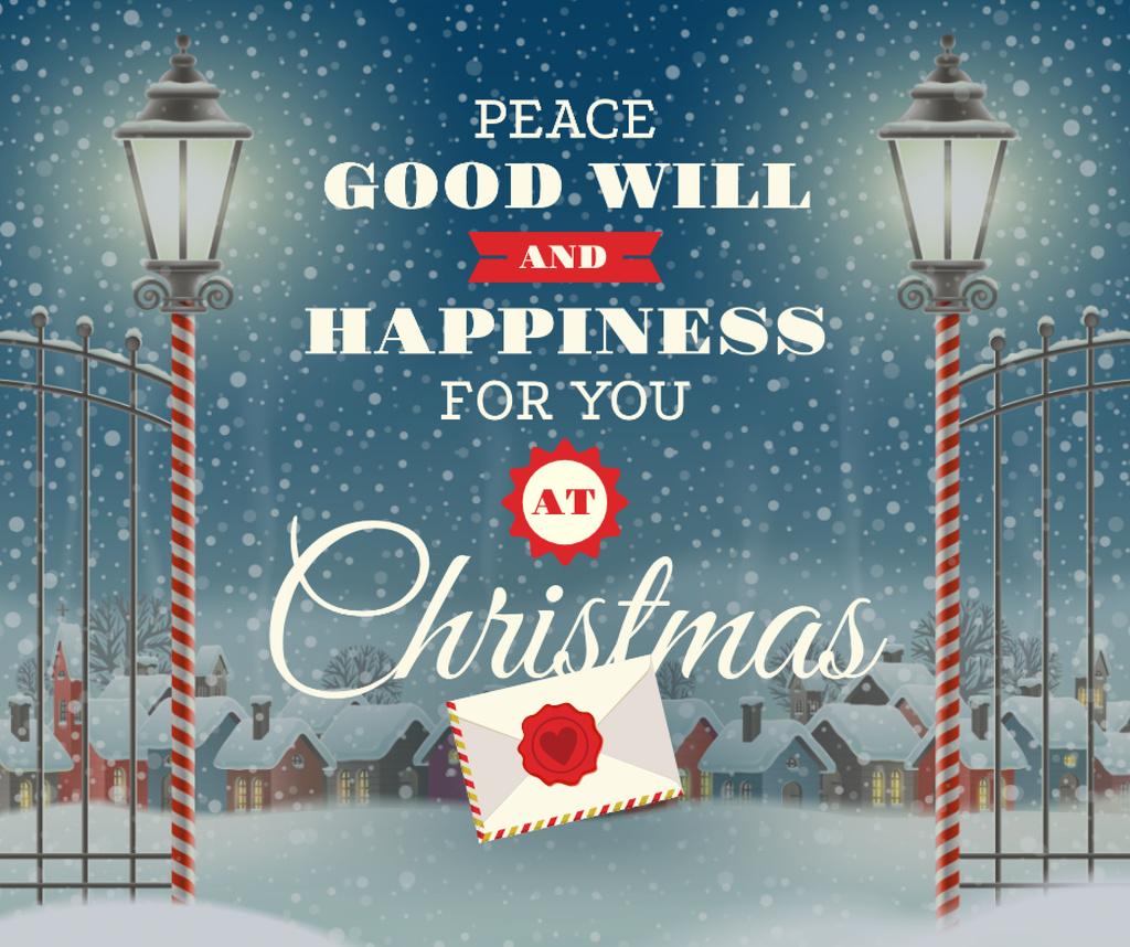 Merry Christmas letter in winter — Crear un diseño