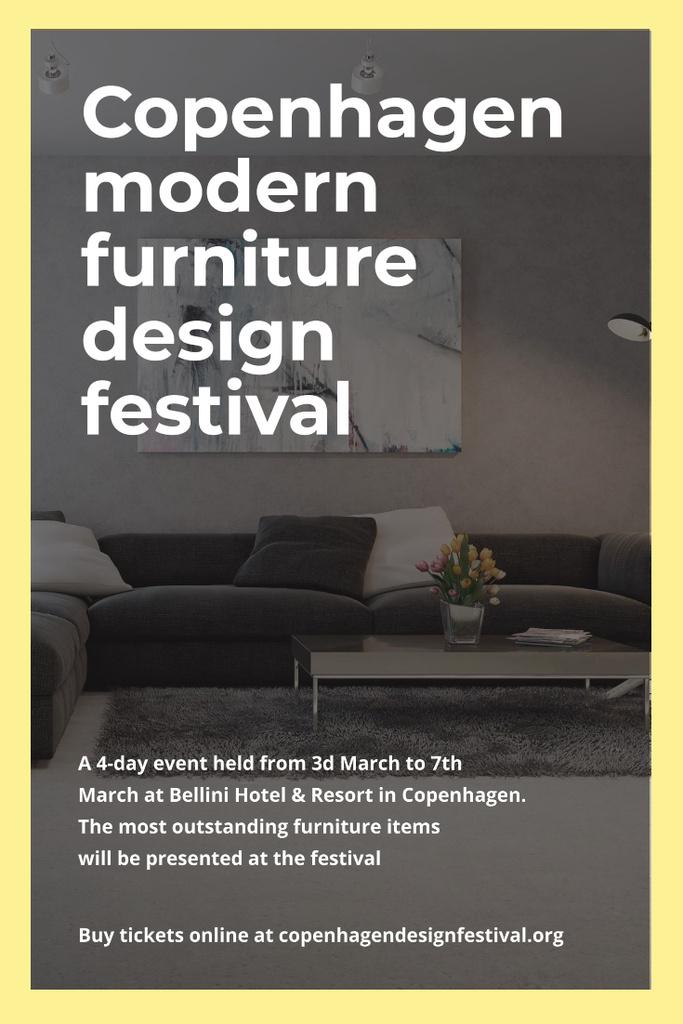 Design Event Announcement with Sofa in Grey — Créer un visuel