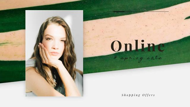 Plantilla de diseño de Young attractive woman Full HD video
