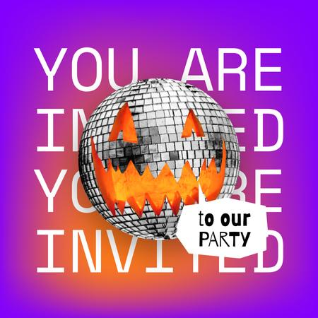 Halloween Party Announcement with Disco Pumpkin Animated Post – шаблон для дизайна