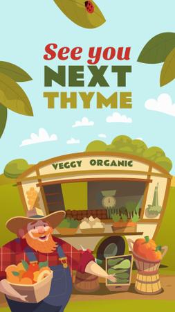 Modèle de visuel Friendly Farmer holding Fresh Vegetables - Instagram Story
