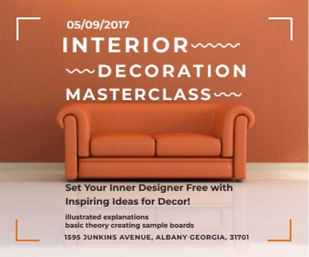 Plantilla de diseño de Interior decoration masterclass Large Rectangle