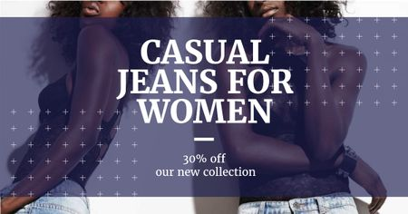 Women wearing Denim clothes Facebook AD – шаблон для дизайну
