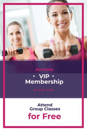Template di design VIP membership with car for gym Pinterest